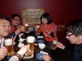 新宿で祝杯