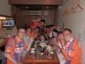 試合後は平松父を交えて「平松宗プロ初ゴール」をお祝い